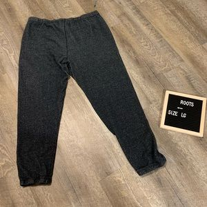 Men's Roots Pants Salt and Pepper Style Size Large